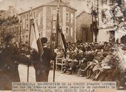 PHOTO ORIGINALE ( 12X17) VERSAILLES Inauguration De La Statue D André Lefevre (marechal Petain) (b.bur) - Célébrités