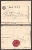 TELEGRAPH TELEGRAM 1910 Hungary - Close Label Vignette / MAGYARÓVÁR - Télégraphes