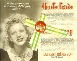 """Carnet Publicitaire Et Bande De Savon De WATERLOO """" Laurent Frères & Co """" Photo De Nicole Chanly * Savon Oeufs Frais . - Parfums & Beauté"""