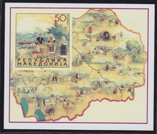 Macedonia 2001 National Costumes, Block, MNH (**) Michel 224 Block 8 - Macedonia