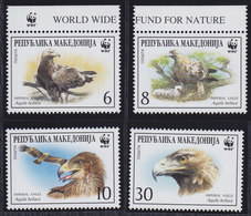 Macedonia 2001 Worldwide Nature Conservation - Eastern Imperial Eagle, MNH (**) Michel 215-218 - Mazedonien