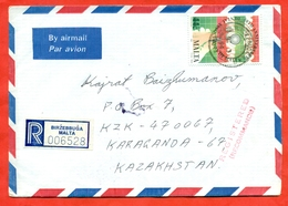 Malta 1994.Teeth. Health.Registered Envelope Passed The Mail.Airmail. - Malta