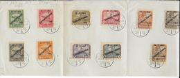 FIUME - 1922 - YVERT N° 159/169  OBLITERES SUR FEUILLET 4 VOLETS - Fiume