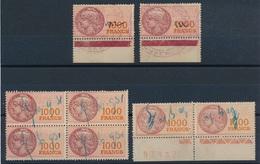 CD-513: FRANCE: Lot  Avec Fiscaux  N°52/52a  (bloc De 4 + Paire + 2) - Revenue Stamps