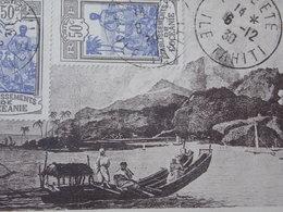 Postcard CPA - TAHITI - ILE DANS LE VENT-  OCEANIA - PAPEETE 1930 Tahiti As Seen By Captain Cook - Tahiti
