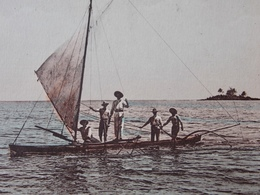 Postcard CPA - TAHITI - ILE DANS LE VENT-  OCEANIA - In Full Sail To MOOREA - Tahiti