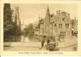 """CP De BRUGES ( Brugge ) """" Rozenhoedkaai / Le Quai Du Rosaire """" Grand Format  RARE. - Brugge"""