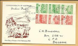 Australien FDC 1953 Mi.223-228 Brisbane QLD Australia - FDC