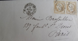 R1712/16 - LETTRE (LAC) - NAPOLEON III (PAIRE) N°21 - SAINT GERMAIN EN LAYE (GC 3638) 11 AVRIL 1866 > PARIS - 1862 Napoleon III