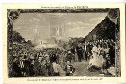 65  CHATEAU DE MAUVEZIN   PRISE DE POSSESSION   DONNE PAR MR BIBAL AUX FELIBRES DE L ESCOLE GASTON PHOEBUS  AOUT 1907 - Francia