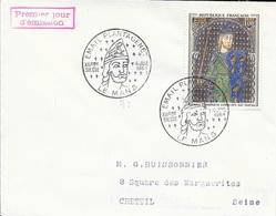 TIMBRE N° 1419   -  TABLEAU PLANTAGENET  - 1ER JOUR  N° 3372 - EMAIL PLANTAGENT  4 JUIL 1964 LE MANS - BELLE FRAPPE - Postmark Collection (Covers)
