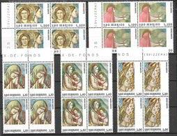San Marino 1975 Anno Santo. Affresco Di Giotto Serie Completa Nuova/mnh** In Quartina - San Marino