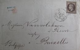 R1712/20 - LETTRE (LSC) - NAPOLEON III Lauré N°30 - PARIS / ETOILE / 29 DEC 1868 > BRUXELLES (BELGIQUE) - 1863-1870 Napoleon III With Laurels