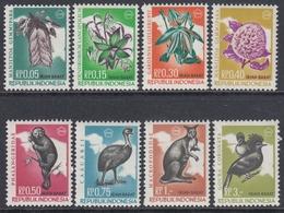 Indonesia West-Irian 1968 - Definite Stamps Flora And Fauna: Orchids, Kangaroo, Birds, Etc.  - Mi 23-30 ** MNH - Indonésie