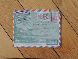 """1968 - Enveloppe Avec Le Rare Tampon """"séminaire Sur L'ichtyosarcotoxisme"""" Et 2 Timbres - FRANCO DE PORT - Polinesia Francese"""