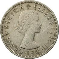 Monnaie, Grande-Bretagne, Elizabeth II, Florin, Two Shillings, 1960, TTB - 1902-1971 : Monnaies Post-Victoriennes
