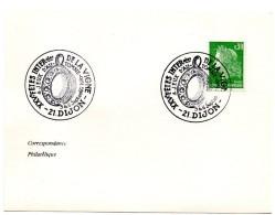 VIGNE & VIN = 21 DIJON 1970 = CACHET TEMPORAIRE Illustré D' Un TASTEVIN  ' FETES De La VIGNE / JEUX D' AUTOMNE' - Storia Postale