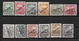 FIUME - 1921 - SERIE YVERT N° 147/158 OBLITERES  - COTE = 130 EUR. - Fiume