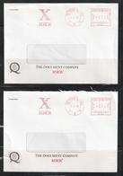 Hong Kong 1997 Four Xerox Meter Covers To Macau - Covers & Documents