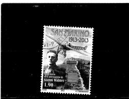 2013 San Marino - Cent. Atterraggio G: Widmer - Used Stamps