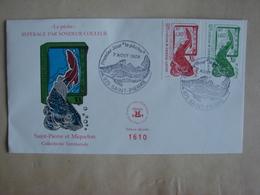 """SPM/Saint Pierre Et Miquelon - Enveloppe 1er Jour FDC """"La Pêche"""" Enveloppe Numérotée N°1610 - Lettres & Documents"""