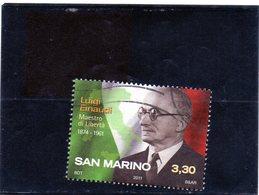 2011 San Marino - Presidente Luigi Einuadi - Used Stamps