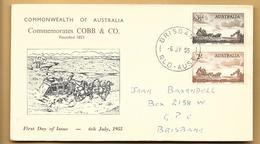 Australien FDC 1955 Mi.254,255 Brisbane QLD Australia - FDC