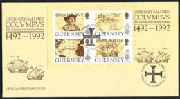 Guernsey Yv BF 15 Europa 1992 Colombus F.D.C. - Guernesey