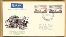 Australien FDC 1955 Mi.254,255 Melbourne Australia - FDC