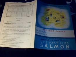 Protege  Cahier  Pastilles  Salmon Theme Departement Francais La Marne TBE - Blotters