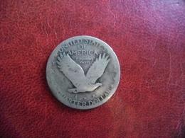 """ETATS UNIS AMERIQUE - USA - 1/4 $ Silver """"1917"""" Quarter Standing Liberty Et Aigle Argent 90% @ KM# 145 - 1916-1930: Standing Liberty (Libertà In Piedi)"""