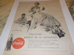 ANCIENNE PUBLICITE PLAISIR DE RAFRAICHIR COCA COLA 1954 - Posters