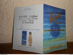 Petit Calendrier Parfumé Année 2000 **2 Volets** Salon De Coiffure/parfums Berdoues - Calendriers