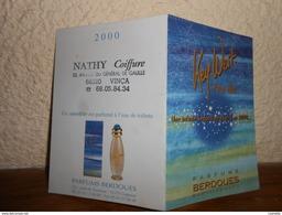 Petit Calendrier Parfumé Année 2000 **2 Volets** Salon De Coiffure/parfums Berdoues - Calendari