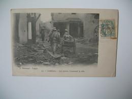 """Carte  Maroc  Casablanca  - Les Canons Traversent La Ville   """" Lieutenant Détachement Du Génie """" - Casablanca"""