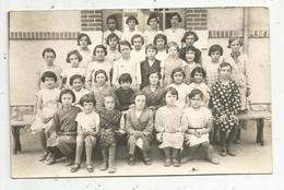 Cp , Carte Photo ,école ,photo De Classe ,enfants ,petites Filles ,vierge - Schools