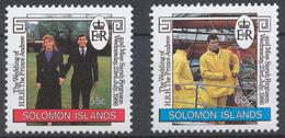 Solomon Islands 1986 Mi# 577-78** WEDDING OF PRINCE ANDREW AND SARAH FERGUSON - Salomon (Iles 1978-...)