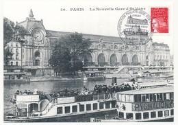 """CPM """"Paris - La Nouvelle Gare D'Orléans"""" - Oblit Temporaire """"56eme Expo Philatélique Des Cheminots - Paris - 1999 - Trains"""