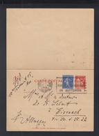 France Carte Postale Acec Reponse Paye 1938 Strasbourg - Ganzsachen