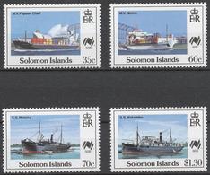 Solomon Islands 1988 Mi# 683-86** SHIPS, AUSTRALIA BICENTENNIAL - Salomon (Iles 1978-...)