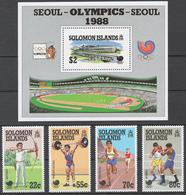 Solomon Islands 1988 Mi# 687-90+ Bl.26** OLYMPIC GAMES SEOUL 1988 - Salomon (Iles 1978-...)
