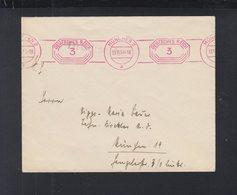 Dt. Reich Brief 1934 München Freistempel Corps Isaria Studentika - Deutschland