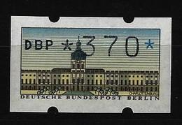 BERLIN - ATM Nr. 1 - Wert 370 Pfennig Postfrisch (2) - Berlin (West)