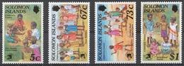 Solomon Islands 1989 Mi# 713-16** CHILDREN'S GAMES - Salomon (Iles 1978-...)