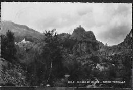VAL D'AOSTA - CHIESA DI OYACE E TORRE TORNALLA - FORMATO PICCOLO  - VIAGGIATA DA VALPELLINE 1955 - Altre Città