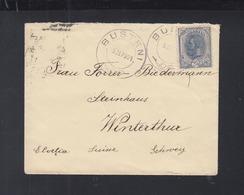 Romania Cover 1901 Busteni To Switzerland - 1881-1918: Carol I.