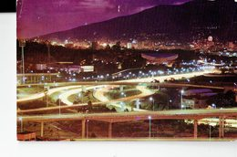 """VENEZUELA 1972  -VINTAGE POSTCARD- CARACAS - VISTA NOCTURNA DE """"EL PULPO"""" MAILED TO COMO (Iitaly) 31/5/1972POST 7296 - Venezuela"""