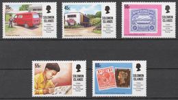 Solomon Islands 1990 Mi# 733-37** FIRST POSTAGE STAMP, 150th ANNIV. - Salomon (Iles 1978-...)