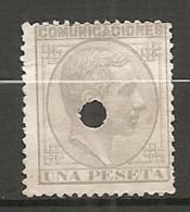 1878- Yv. N° 180  ANNULE  (*)  1p  Gris  Cote  4 Euro   BE  2scans - 1875-1882 Kingdom: Alphonse XII