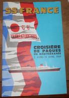 Plan Du SS France – Croisière De Pâques 1969 - Bateaux